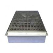Nawiewnik wyporowy- podłogowy SPIDERvent z kratką wentylacyjną metalową dla skrzynki wentylacyjnej M2, nr kat. *41