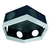 Kolektor-rozdzielacz F12/160D SPIDERvent z ramą dystansową (filigran 25mm) z przyłączem 160mm,(w.151,z.160) pokrywa czarna (PROD