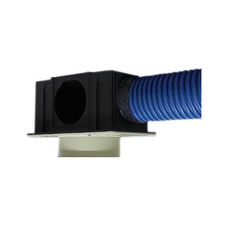 Kolektor-rozdzielacz SPIDERvent SLIM, ze stałym przyłączem kanałowym dolnym na zewnątrz, O125 dla stropów (w tym typu filigran)