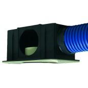 Skrzynka wentylacyjna, rozprężna SLIM M5/100 SPIDERvent z wyjściem wewnętrznym fi 100mm pod anemostat/kratkę, nr kat. *28