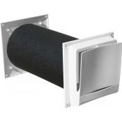 Nawietrzak ścienny ręczny LOTOS, model TL80F-dBR, akustyczny, 28m3/h@10Pa*, 44dB (Ctr)*, D148x400mm (zawór powietrzny)