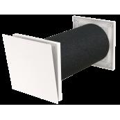 Nawietrzak ścienny hybrydowy KAMELEON TL80DE dBS - ciśnieniowy, akustyczny, 27m3/h, 49dB, D124x360mm, biały (RAL9010+NCS S1002-6